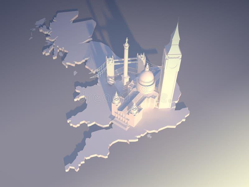 Antenne 2 van Londen royalty-vrije illustratie