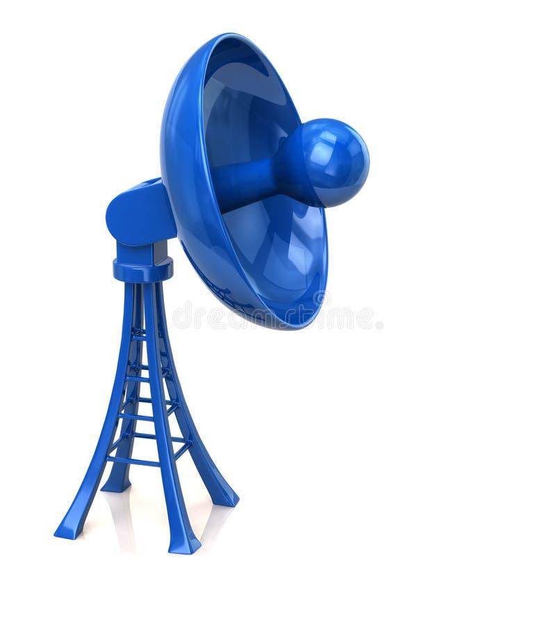 Antenne bleue d'antenne parabolique illustration de vecteur