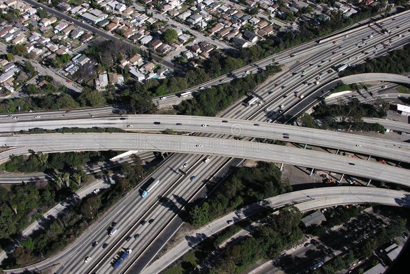 Échange d'autoroute de LA images libres de droits