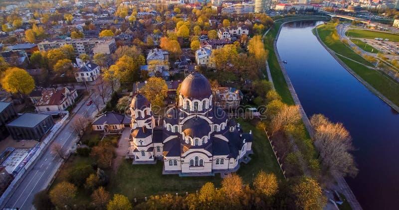 Antenne d'église de Vilnius photo libre de droits