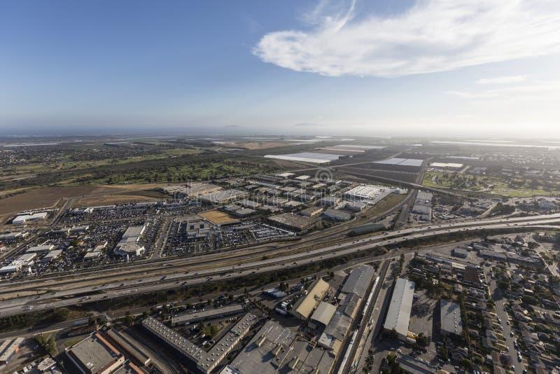Antenne d'autoroute d'Oxnard la Californie 101 photographie stock libre de droits