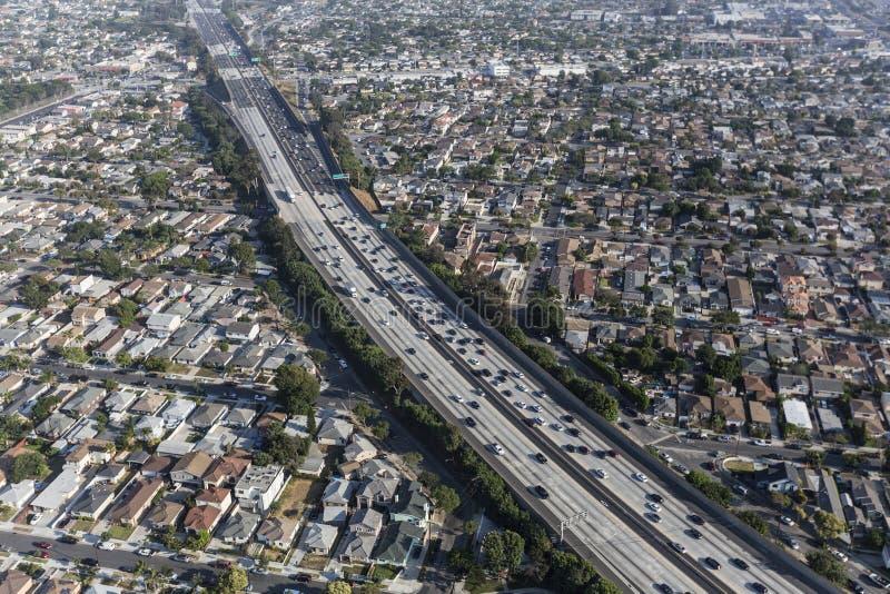Antenne d'autoroute de Los Angeles 405 photos libres de droits