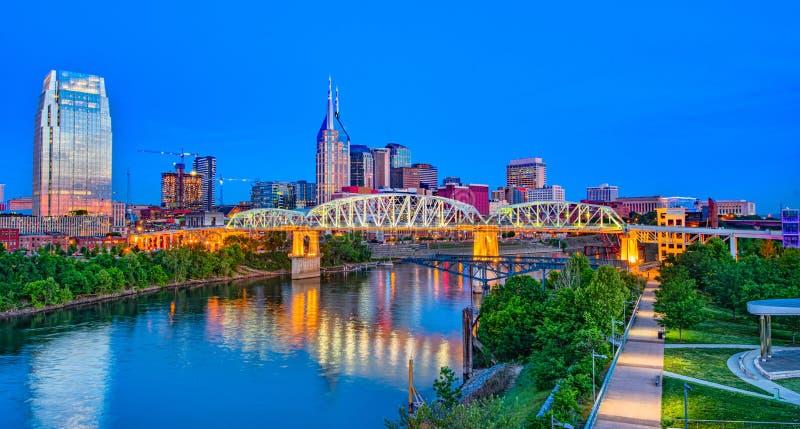 Antenne d'horizon de bourdon de Nashville Tennessee TN photos stock