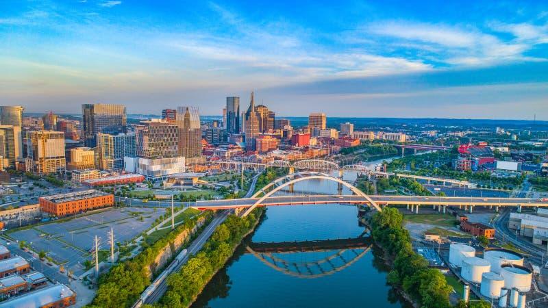 Antenne d'horizon de Nashville, Tennessee, Etats-Unis photo stock
