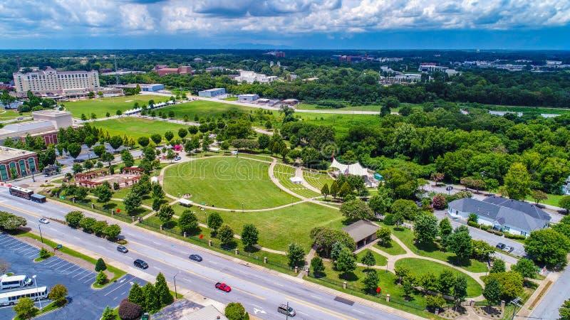 Antenne de Barnet Park en Sc de Spartanburg la Caroline du Sud photographie stock libre de droits
