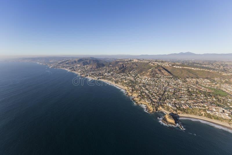Antenne de côte de la Californie de Comté d'Orange de Laguna Beach image stock