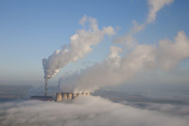 Antenne de centrale électrique photos stock