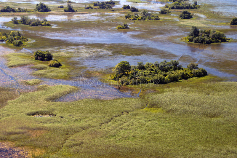 Antenne de delta d'Okavango photographie stock