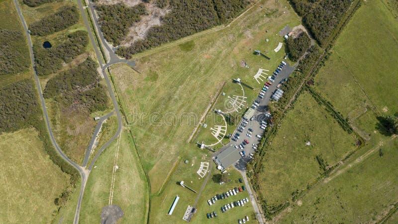 Antenne, de dessus vue vers le bas de Skeet Shooting Grounds photos stock