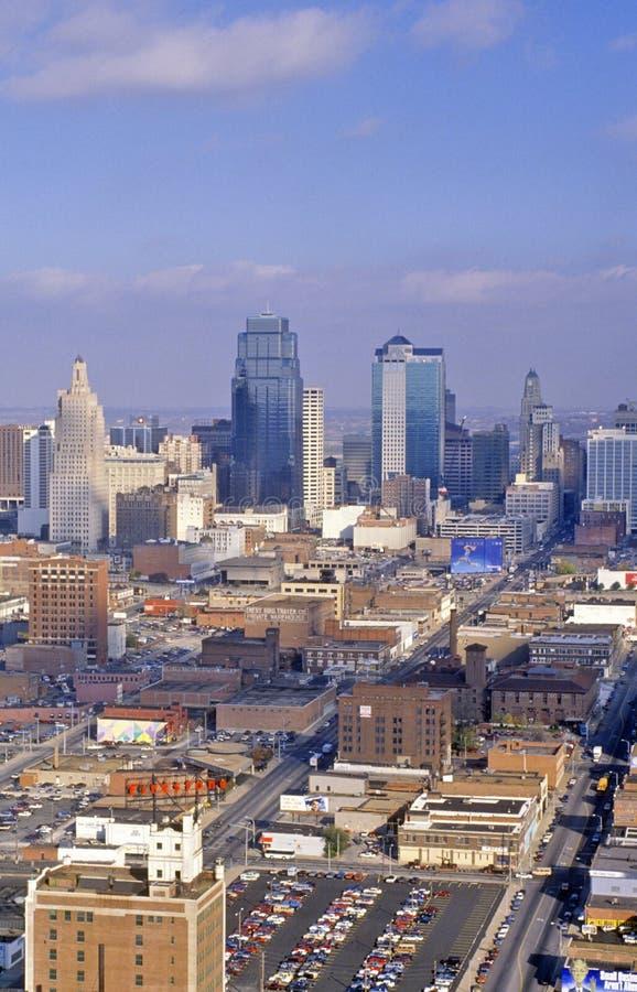 Antenne de l'horizon de Kansas City, MOIS photos libres de droits