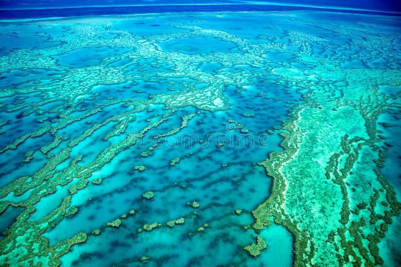Antenne de la Grande barrière de corail, Australie image libre de droits