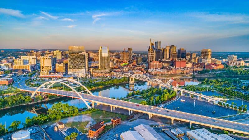 Antenne de Nashville du centre, Tennessee, Etats-Unis images libres de droits