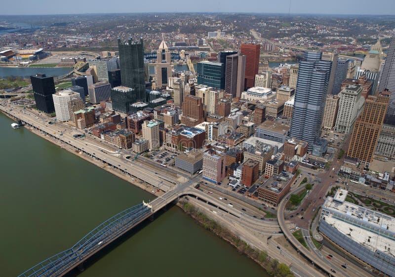 Antenne de Pittsburgh Pennsylvanie images libres de droits