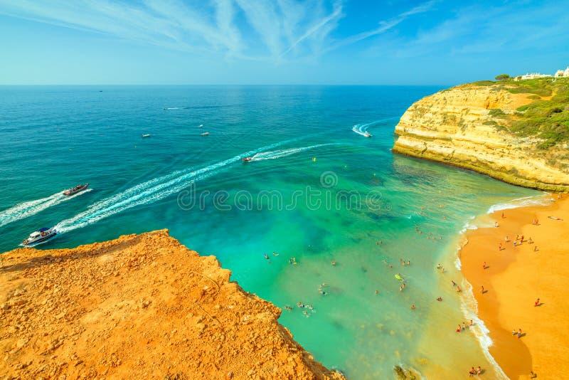 Antenne de plage de Benagil photos stock