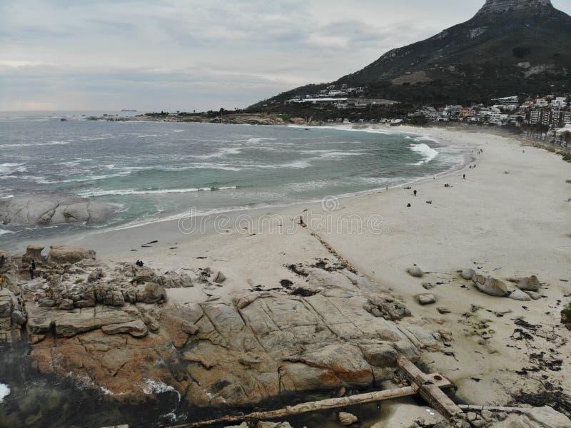 Antenne de plage de Cape Town Campsbay photo libre de droits