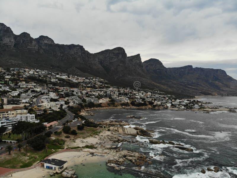 Antenne de plage de Cape Town Campsbay images stock