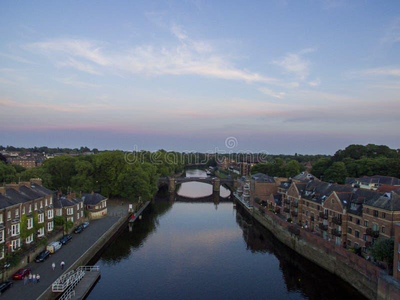 Antenne de rive de York images stock