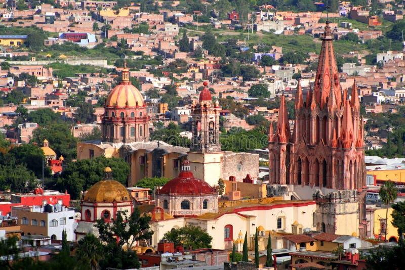 Antenne de San Miguel de Allende photos stock