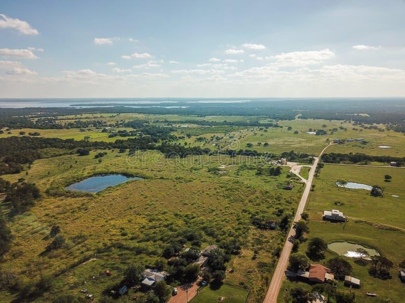 Antenne de Sommervile rural, le Texas Austin intermédiaire et Houston photo libre de droits