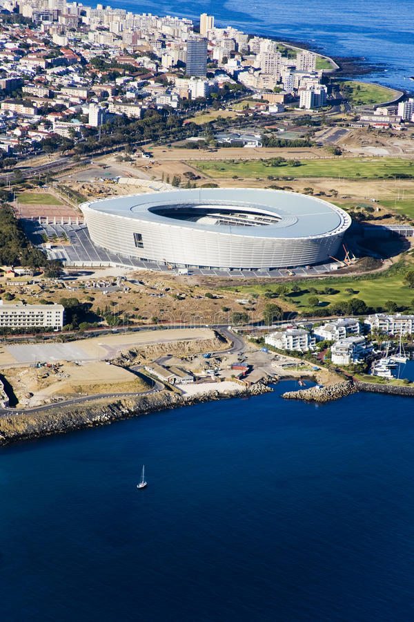 Antenne de stade de Cape Town photo stock