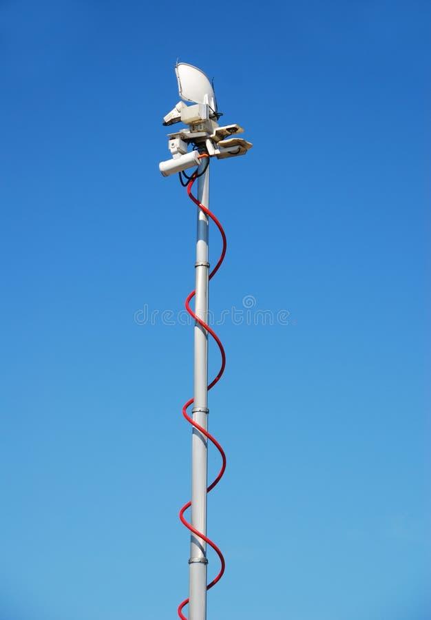 Antenne de télécommunication mobile photo stock