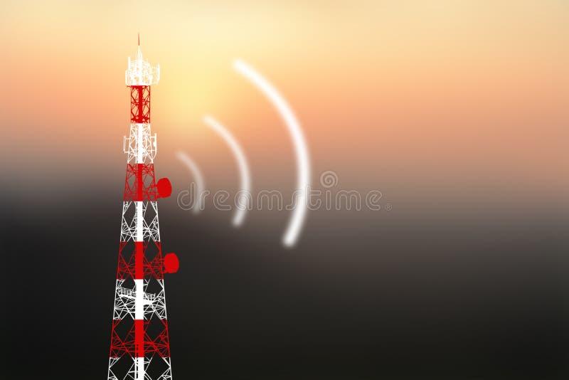 Antenne de téléphone portable photographie stock