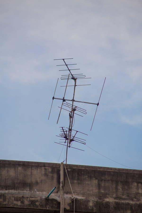 Antenne de télévision photographie stock libre de droits