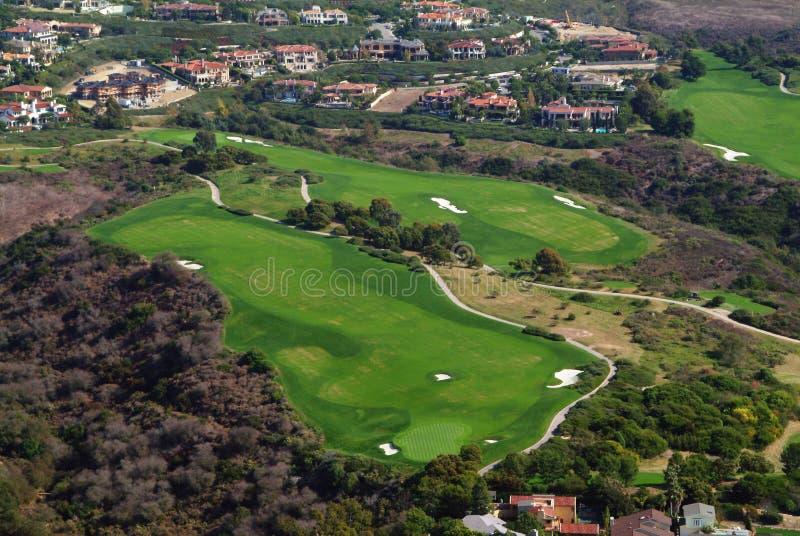 Antenne de terrain de golf de colline de pélican photo libre de droits