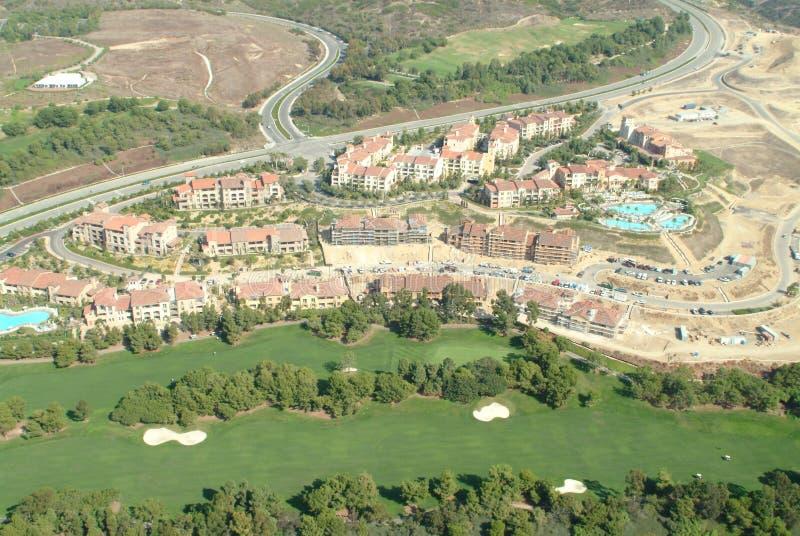 Antenne de terrain de golf de colline de pélican photo stock