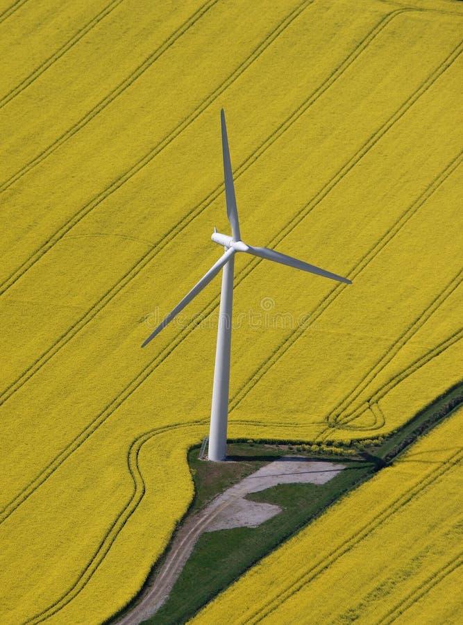 Antenne de turbine de vent images stock