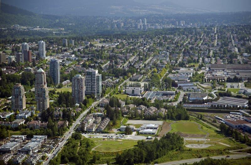 Antenne de Vancouver - Burnaby et Westminster neuf photographie stock libre de droits