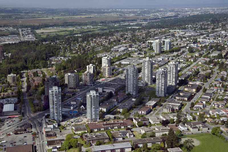 Antenne de Vancouver - Burnaby et Westminster neuf images stock
