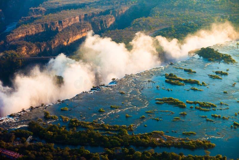 Antenne de Victoria Falls image libre de droits