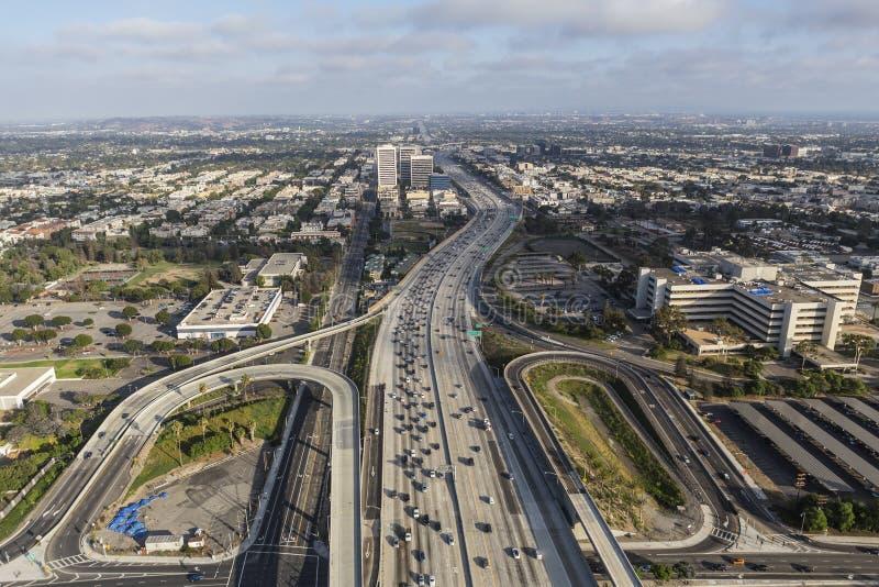 Antenne der Autobahn San Diegos 405 im West-Los Angeles stockfoto