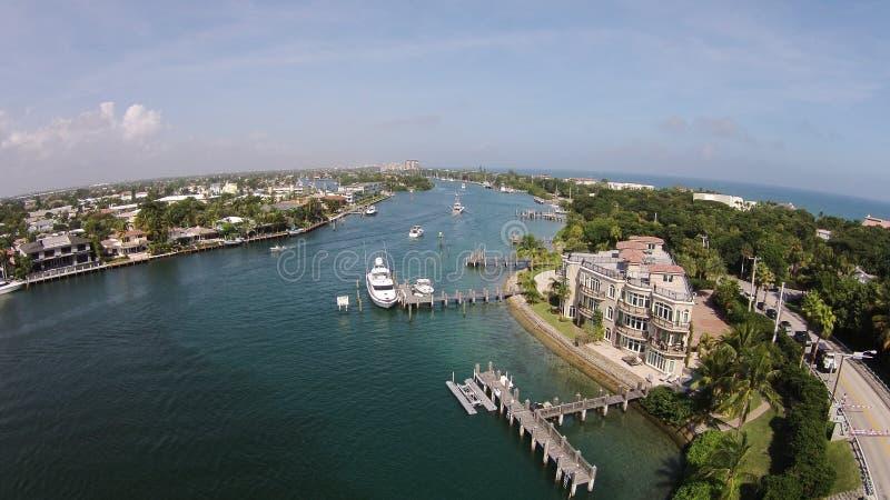 Antenne des Fort Lauderdale-Leuchtturm-Punktes Florida stockbilder