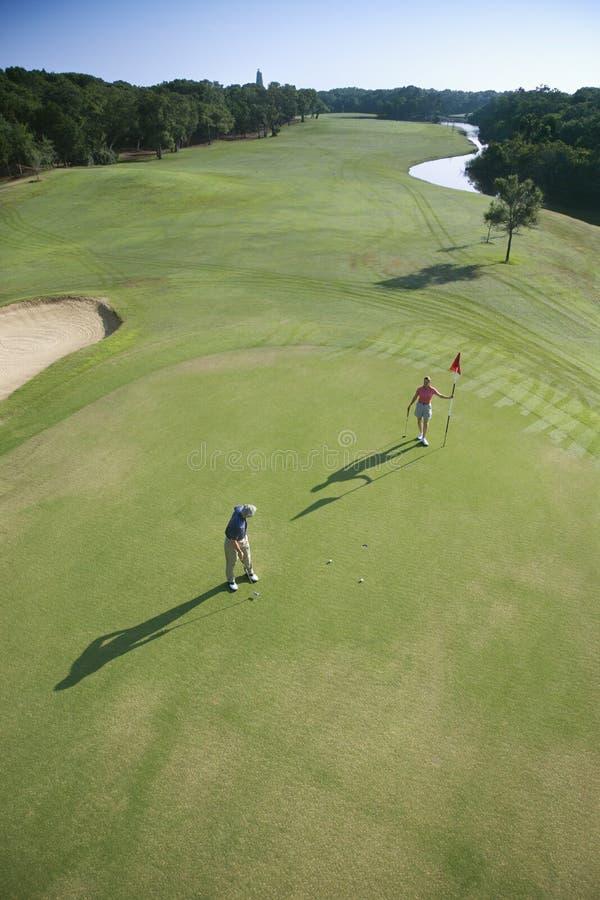 Antenne des golfeurs. photos stock