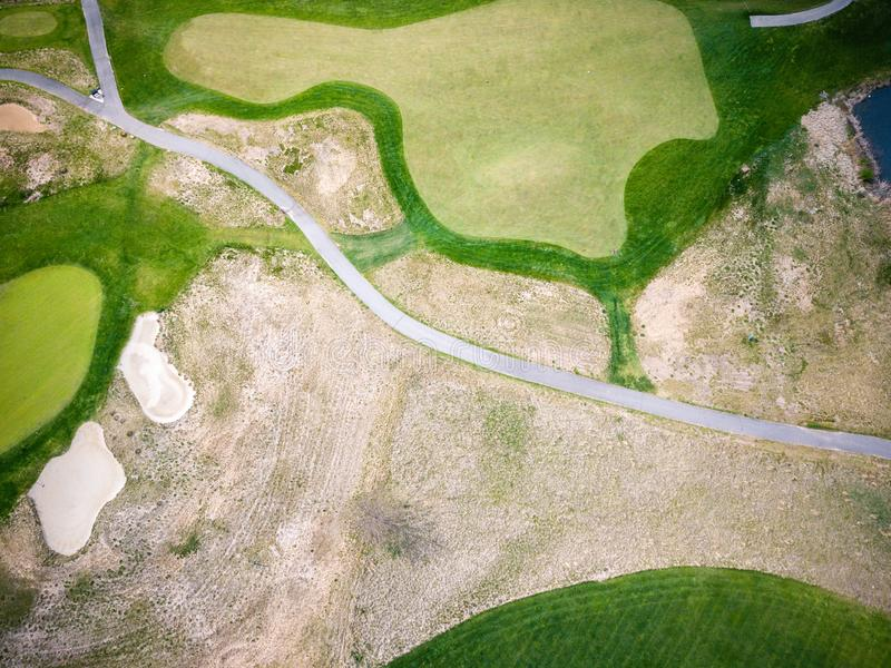 Antenne des Golfplatzes in New-Jersey lizenzfreies stockbild