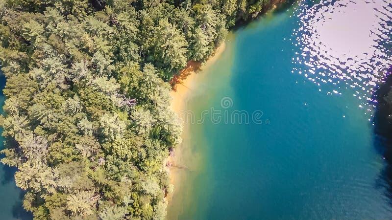 Antenne des montagnes du sud de Carolina Lake Jocassee Gorges Upstate photo libre de droits
