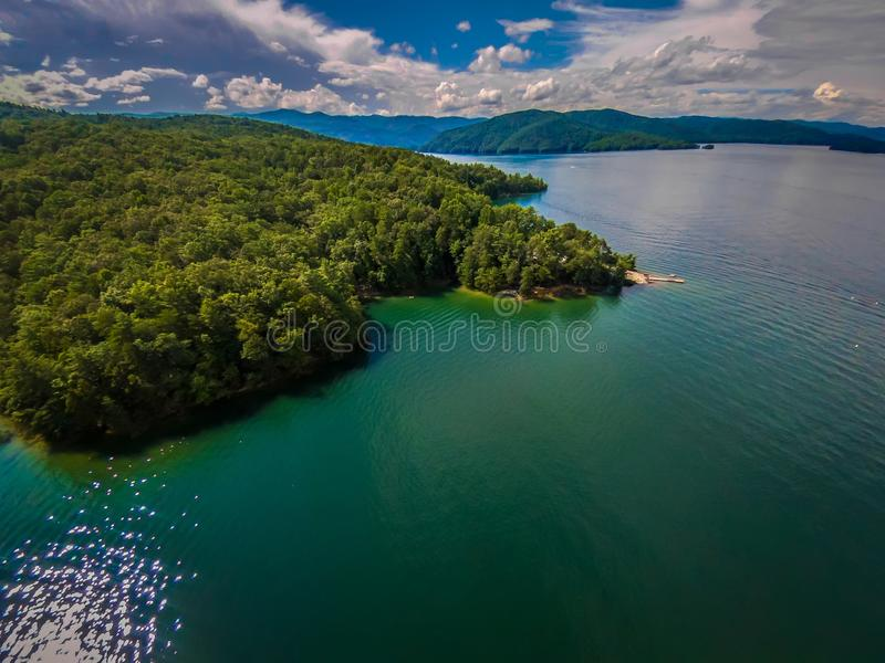 Antenne des montagnes du sud de Carolina Lake Jocassee Gorges Upstate photographie stock