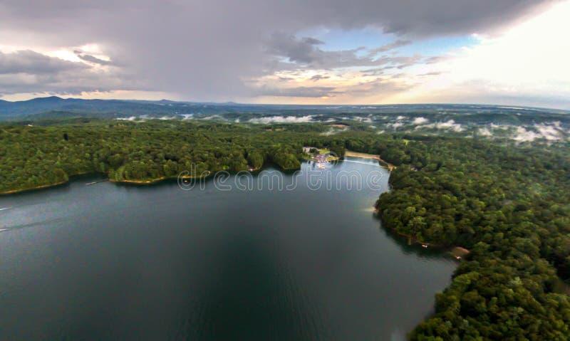 Antenne des montagnes du sud de Carolina Lake Jocassee Gorges Upstate photo stock