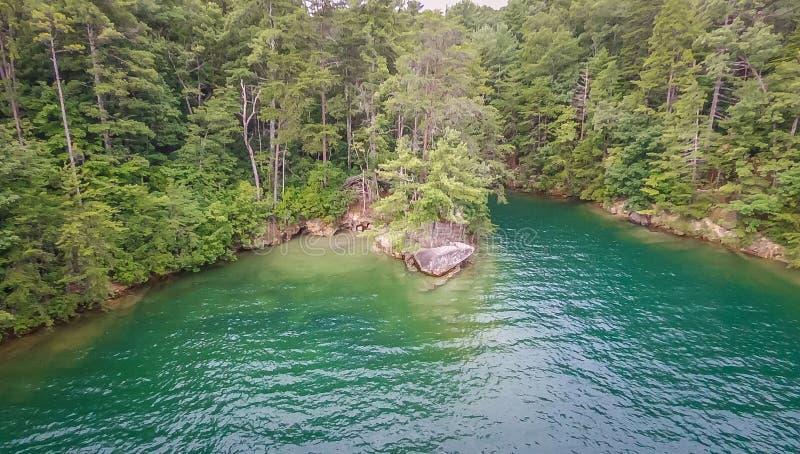 Antenne des montagnes du sud de Carolina Lake Jocassee Gorges Upstate images libres de droits