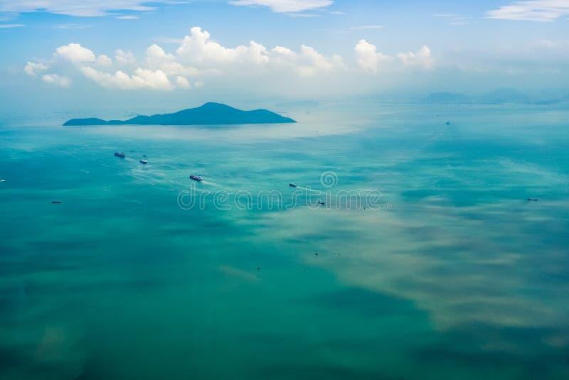 Antenne die Insel lizenzfreie stockfotografie