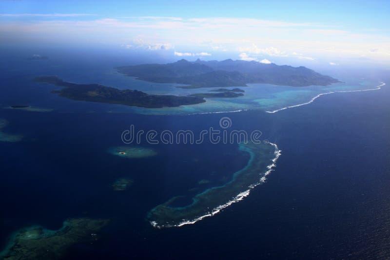 Antenne Drie van Fiji stock foto's