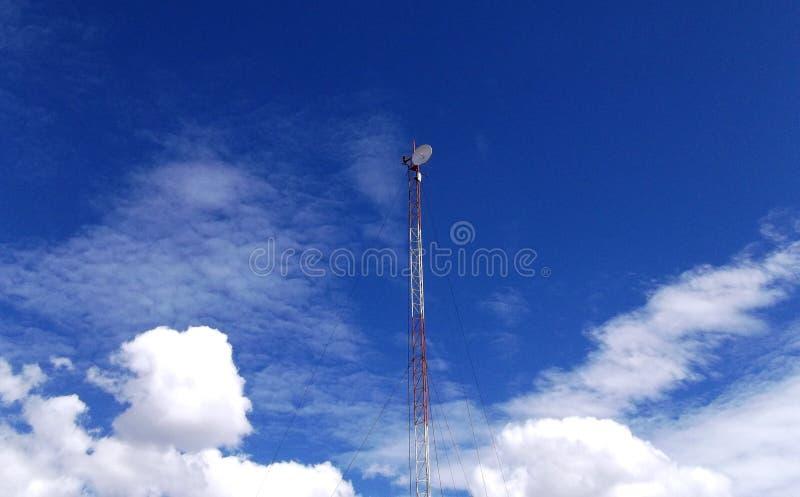 Antenne an einem klaren blauen und weißen Himmeltag lizenzfreies stockfoto