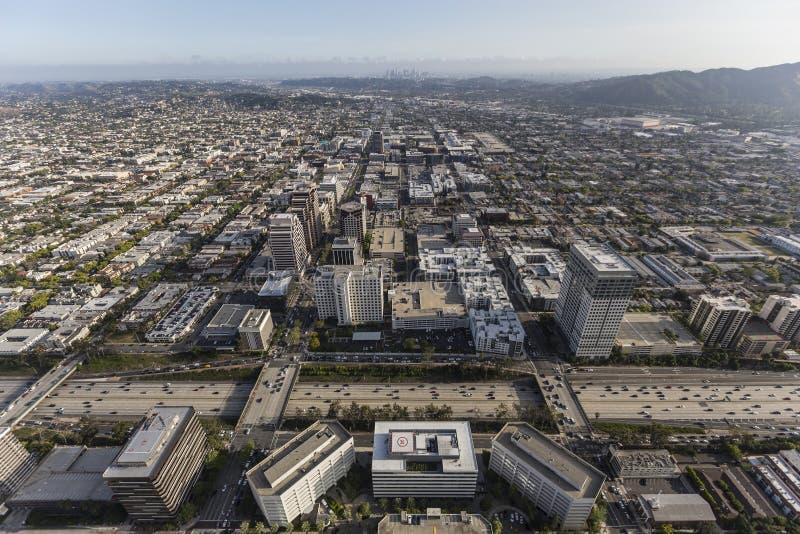 Antenne Glendales Kalifornien lizenzfreie stockfotografie