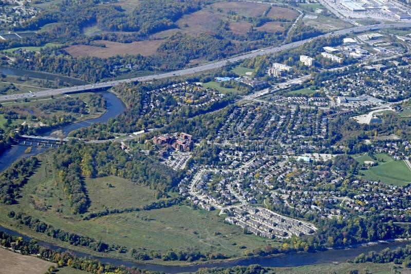 Antenne Kitchener Waterloo lizenzfreie stockbilder