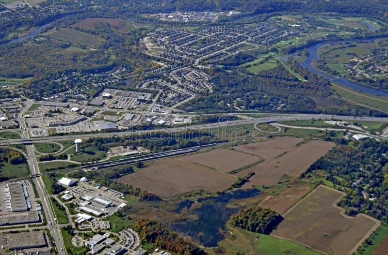 Antenne Kitchener Waterloo lizenzfreie stockfotografie