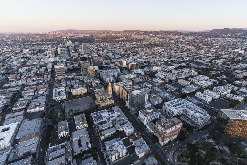Antenne Los Angeles de matin de Bd. de Wilshire photos stock
