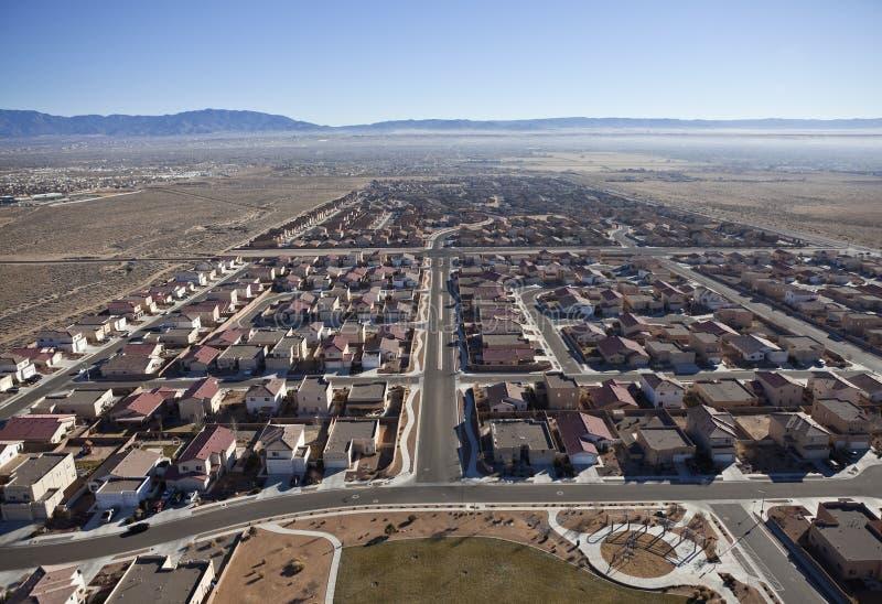 Antenne occidentale de position abandonnée suburbaine des USA photos libres de droits