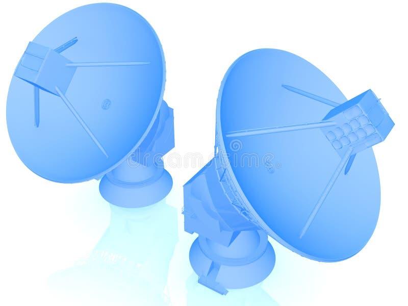 antenne parabolique 3d illustration libre de droits